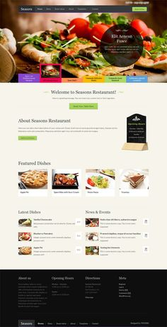 Seasons, Premium WordPress Restaurant Cafe Theme
