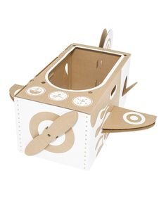 Loving this Little Cardboard Airplane on #zulily! #zulilyfinds