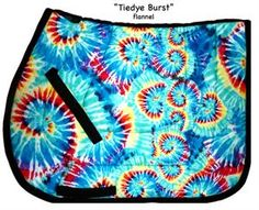 Tie Dye Burst Saddle Pad