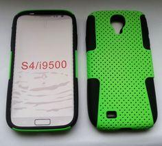 Plastik + Silikon Combination Case für Samsung Galaxy S4 / i9500 Grün
