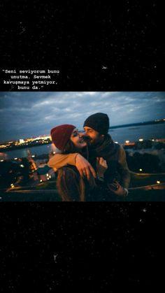 Seni Seviyorum bunu unutma. Sevmek kavuşmaya yetmiyor bunuda..🐞 One Word Quotes, Love Song Quotes, Bio Quotes, Study Quotes, Romantic Love Quotes, Couple Quotes, Anna Disney, Look At The Moon, Fake Photo