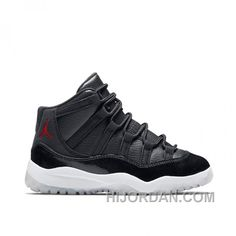 27062006be7e Preschool s Air Jordan 11 Retro 72-10 Black Gym Red-White-Anthracite DCPXY