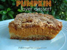 Welcome to another {taste this} here at shaken together! This is the second recipe in my fall baking series (golden oatmeal muffins are here if you missed them) and this delicious 3 layer pumpkin dessert comesstraight from my grandma's kitchen! As you know, I love desserts that are quick, easy and tasty and this recipe …