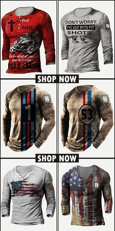 Up to 45% off! Men fashion long-sleeve T-shirt and accessories holiday sale for discount, free shipping on order $59. Shop now! #sale #men #outfits #accessories #shoes #shirt #tee #fall #winter #hoodie #tactical Motorcycle Jacket, Print Design, Long Sleeve Shirts, Shop Now, Men Shirts, Mens Fashion, Hoodies, Tees, Fall Winter