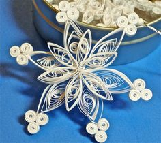 Quilled Paper Snowflake Christmas Decorations by TheNobleCraftsman, $24.00