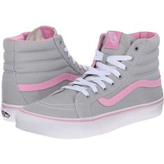 Vans SK8-Hi Slim Skate Shoes ($55) ❤ liked on Polyvore featuring shoes, sneakers, hi top skate shoes, high top trainers, high top leather shoes, leather high tops and vans trainers