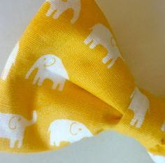 yellow elephant men's bowtie / #southern - So preppy but so awesome!