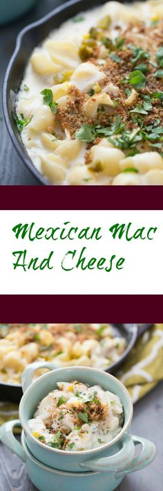 This Mexican Mac and Cheese is going to have you hooked with one bite! Chicken, corn, and cheese abound in each bite! via @Lemonsforlulu