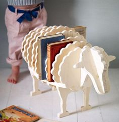 Love this bookshelf for kids.  Fun, quirky, and easy for kids to use.