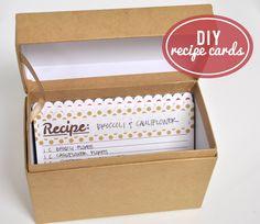 DIY Recipe Cards :: #Silhouette #organization