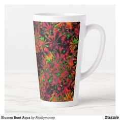 Blumen Bunt Aqua Milchtasse Aqua, Designs, Bunt, Tableware, Welcome Home, Business Cards, Pictures, Water, Dinnerware