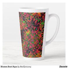 Blumen Bunt Aqua Milchtasse Aqua, Designs, Bunt, Tableware, Welcome Home, Business Cards, Pictures, Water, Dinnerware