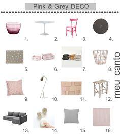 meu canto blog: Ideas de decoración: Rosa y gris. 8.-Canasto Wire Basket de ferm LIVING en Ottoyanna. #decoration #decoracion #interiorismo #interiorism
