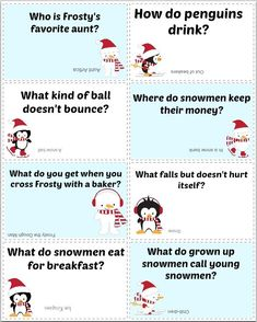 New Ideas Funny Kids Notes Lunch Box Jokes Christmas Jokes For Kids, Family Christmas Gifts, Christmas Humor, Gifts For Family, Christmas Fun, Christmas Riddles, Funny Christmas Jokes, Thanksgiving Jokes, Christmas Crackers