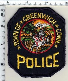 Town of Greenwich Police (Connecticut) Shoulder Patch - new from 1992