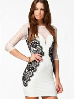 see more Double-Deck Lace Half Sleeve Hip Package Dress http://thepageantplanet.com/category/pageant-wardrobe/
