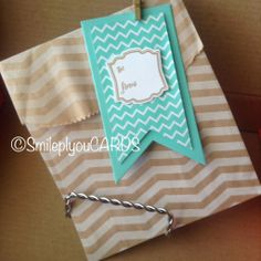 Stampin' Up! Tag a Bag Gift Bag and Banner Framelits #stampinup #bannerfun