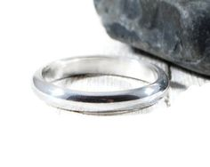 Simple Sterling Silver Band. Silver Wedding Band. Mens Wedding Band 3mm. Silver Half Round Band. Simple Wedding Ring. Mens Womens Ring Band Silver Wedding Bands, Wedding Men, Great Gifts For Girlfriend, Wedding Rings Simple, Personalized Rings, Rings For Her, Band Rings, Sterling Silver Rings, Women Jewelry