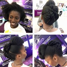 Creative updo by @ebonybomani  Read the article here - http://www.blackhairinformation.com/hairstyle-gallery/creative-updo-ebonybomani/