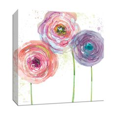 The Kids Room by Stupell Ava Pink and Green Border with Flowers Personalized Rectangle Wall Plaque