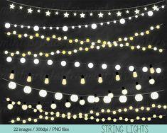Lights Clipart Fairy Lights Clipart Clip Art by mintprintables, $5.00