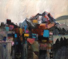 "Mountainside 42x48"" acrylic"