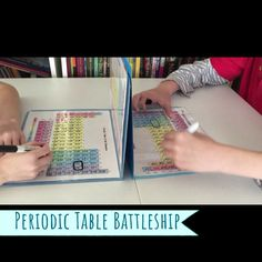 Periodic Table Battleship Game - - Periodic Table Battleship Game SCIENCE & STEM for KIDS Teach the Periodic Table of Elements with this awesome chemistry game! Chemistry Experiments For Kids, Chemistry Projects, Chemistry Lessons, Science Lessons, Science Projects, Science For Kids, Chemistry Basics, Chemistry Quotes, Chemistry Worksheets
