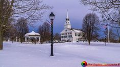 Looking across the Rindge New Hampshire town green.