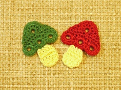 Crochetpedia: Crochet Food and Drink Applique Patterns Crochet Food, Cute Crochet, Crochet Crafts, Crochet Yarn, Crochet Flowers, Crochet Projects, Crochet Apple, Crochet Diagram, Crochet Motif