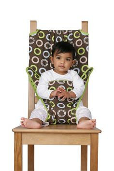Amazon.com : Totseat Chair Harness in Chocolate Chip : Childrens Chair Harnesses : Baby