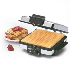 A wafflemaker with removable plates (that can go in the dishwasher)!  They don't make many like this anymore, I am so happy to have found one!