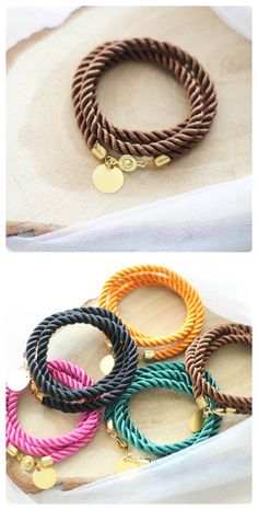7 COLORS! Brown and Other bracelet cord rope nautical silk twisted bangle friendship jewelry wedding  bridesmaid by kskalozubova on Etsy https://www.etsy.com/listing/246634282/7-colors-brown-and-other-bracelet-cord