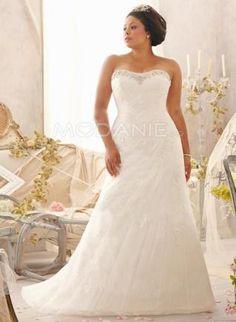bustier col en coeur robe de mariée grande taille