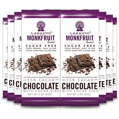 Lakanto Sugar Free 55 Cacao Chocolate Bar Nibs 3 Ounce 8 Pack ** You can get additional details at the image link.