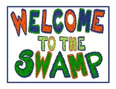 Welcome to the Swamp Cute where you will be swamped with fun and laughter!This two page Poster Set is for all those Florida Gator fans and Alligator Theme Classrooms. Just print, laminate cut out, and you have a cute display.
