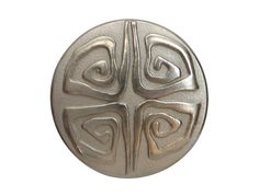 2 BSlack Metal Shank Buttons Matte Silver Color 3/4 by ButtonJones, $3.00