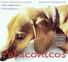 Collar de perro Patuconicos hecho a mano con nudos de macrame