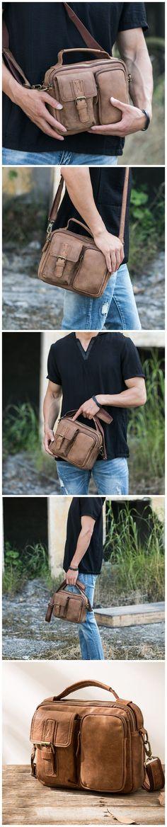 Handmade Shoulder Bag Full Grain Leather Men Messenger Bag Vintage Satchel HB68B40 Canvas Leather, Leather Bags, Leather Men, Photography Bags, Messenger Bag Men, Leather Briefcase, Laptop Bag, Fashion Men, Satchel