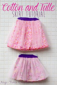 Cotton and Tulle Skirt Tutorial from Nap-Time Creations