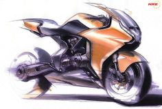 50 stunning motorcycle sketches