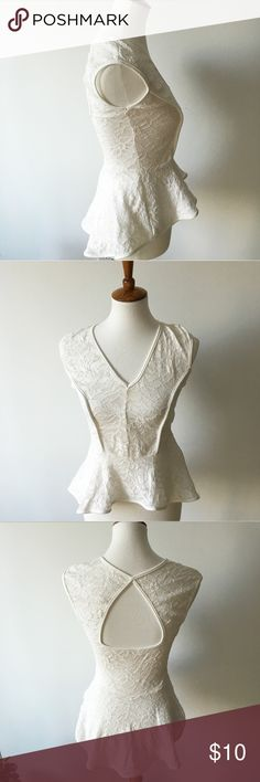 Monaco White Lace Top This white lace top is super soft and stretching. Tops