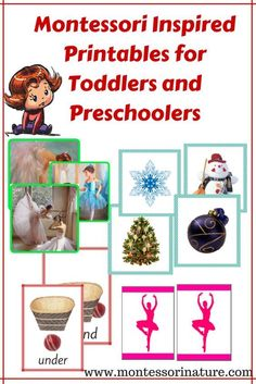 Montessori inspired printables for toddlers and preschoolers Montessori Preschool, Montessori Education, Preschool Kindergarten, Toddler Preschool, Kids Education, Toddler Activities, Learning Activities, Preschool Activities, Maria Montessori
