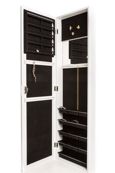 Amazon.com: Jewelry Armoire Wall Mount, Hanging Over the Door Jewelry Armoire with Mirror, Locking Jewelry Armoire White Cabinet with Lock for Added Safety, Security. Safely Lock Store Jewelry. Jewelry Organizer, Holder. Necklaces, Bracelets, Earrings Organizer.: Jewelry