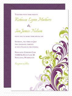 Free pdf download nature border wedding invitation template easy filigree corner flourish wedding invitation sample by impressink stopboris Image collections