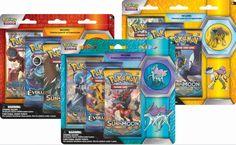 In deze sets zitten 3 booster pakjes en 1 van de 3 speciale pins. Afmeting: 178x5x195 mm - Pokemon blister Legendary Beasts Pin