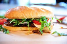 Pioneer Woman's famous and most popular beef and onion sandwich - the original recipe and extra fixings.