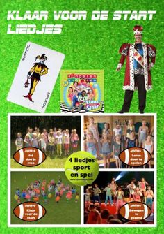 Gratis pdf (8 A4)met 4 liedjes klaar voor de start voor kinderboekenweek 2013 over sport en spel. Hé doe je mee. Leren door te spelen. Ja wij zijn klaar voor de start. Bewegen is gezond.