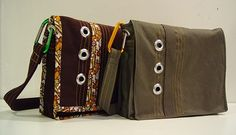 From Punkin Patterns, I love this messenger bag tutorial.  It looks so easy.  Wouldn't it make a cute diaper bag?
