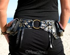 Leather Utility Hip Belt _MoulinRouGe_High Quality by offrandes
