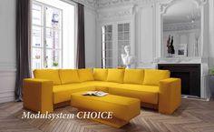 Modulares Sofa von FEYDOM - aus verschiedenen Sitzelementen, Armlehnen und Kissentypen lassen sich hunderte von Kombinationen gestalten.